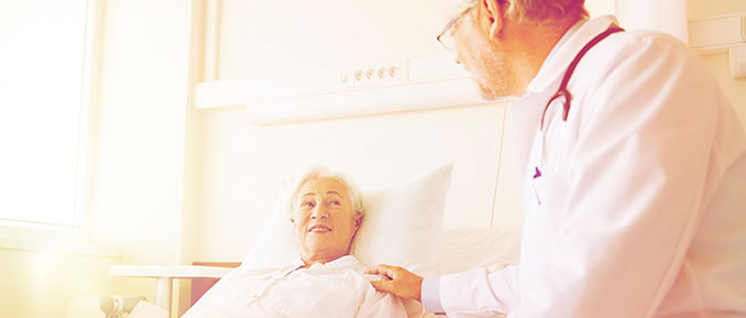 Older Woman In Hospital Bed Epigenetics