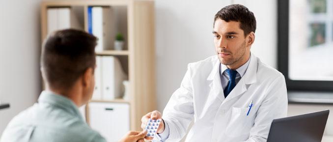 Doctor Handing Drug to Patient Epigenetics