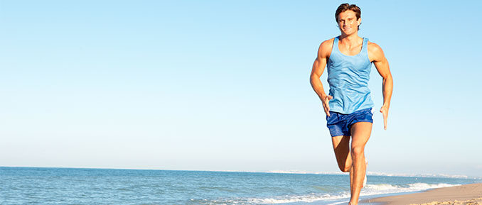 Man Running on Beach Epigenetics